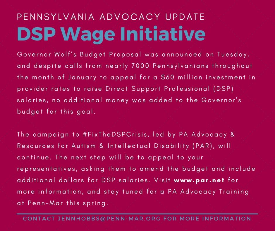 PA Advocacy Update February 2018