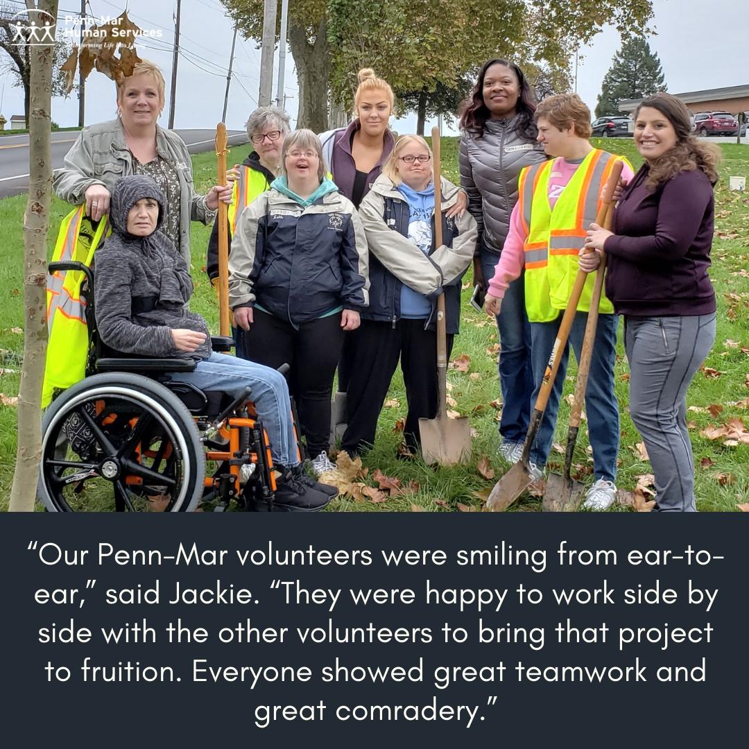Volunteering to plant treest
